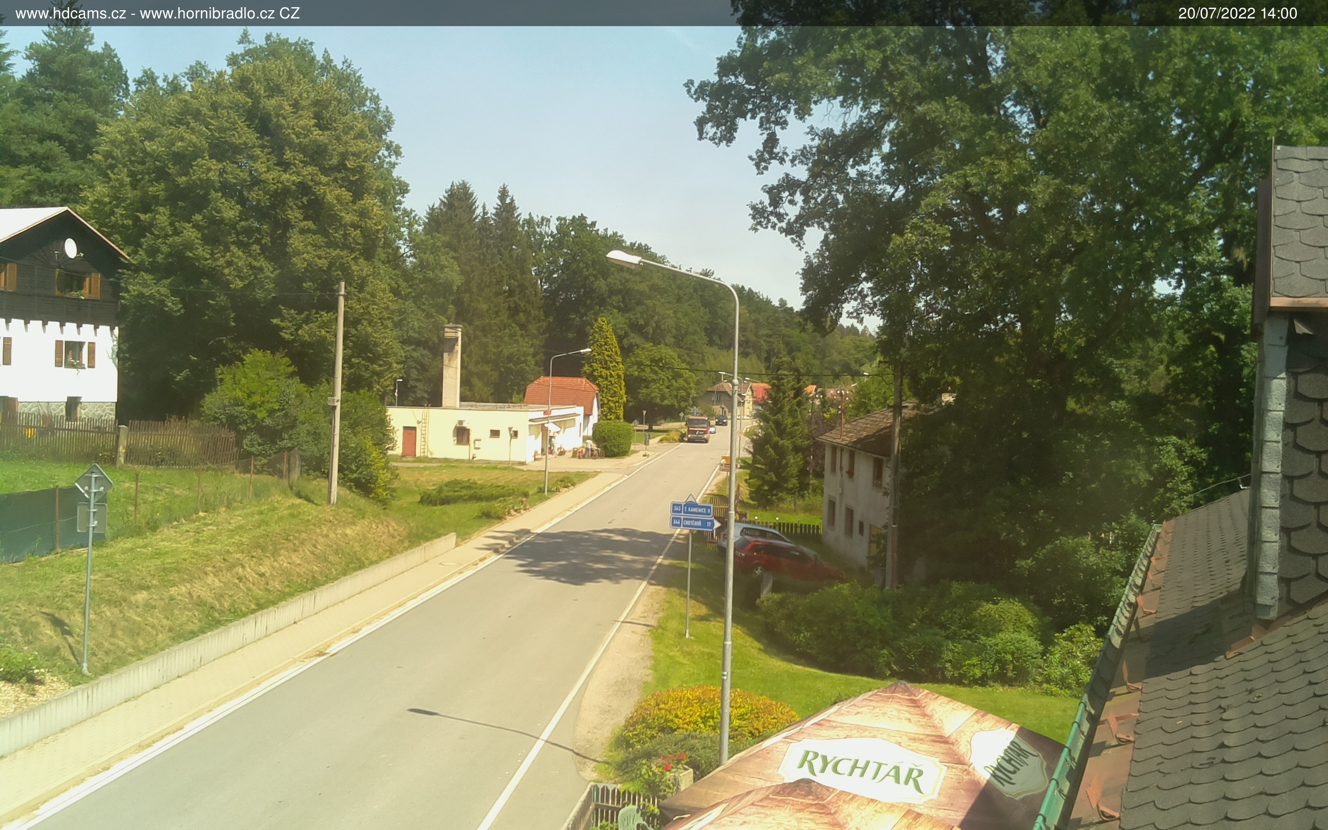 Aktuální pohled na Horní Bradlo